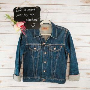 Edwin Denim Jacket Size M Selvedge 5550 0050 Dark